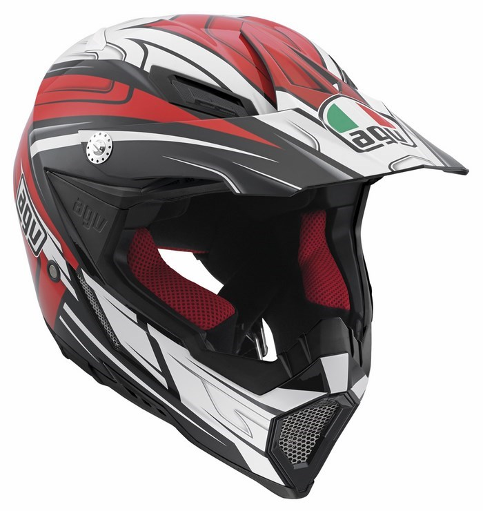 Agv AX-8 Evo Multi Factory offroad helmet black white red