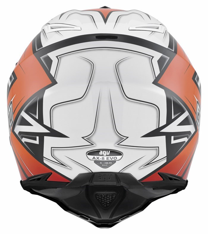 Agv AX-8 Evo Multi Factory offroad helmet black white orange