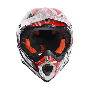 AGV AX-8 EVO Scratch cross helmet White Orange