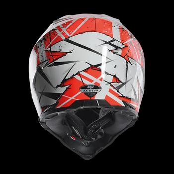 AGV AX-8 EVO Scratch cross helmet White Orange