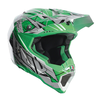 AGV AX-8 EVO Scratch cross helmet White Green
