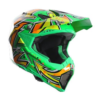 AGV AX-8 EVO Spray cross helmet Green Yellow