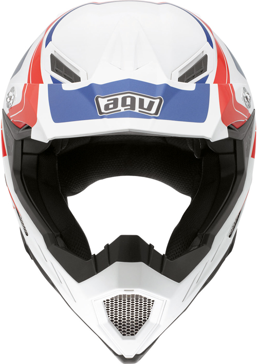 Casco moto Agv AX-8 Evo Multi Klassik bianco-rosso-blu