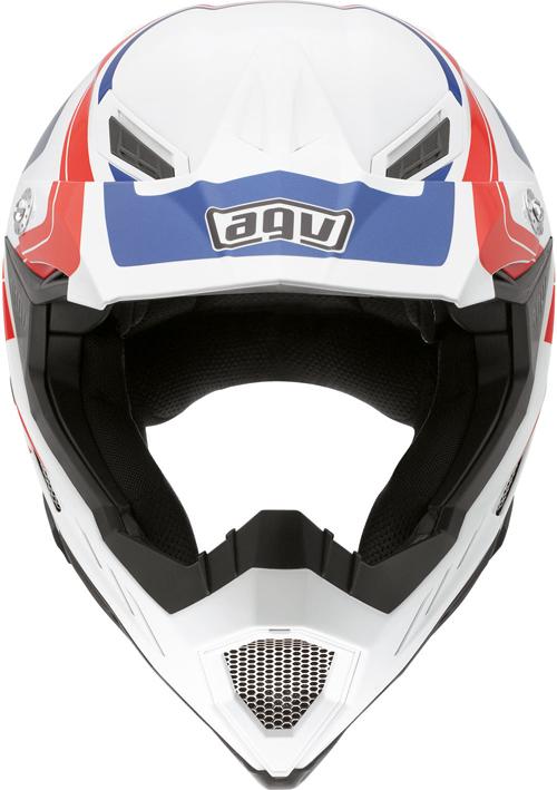 Agv AX-8 Evo Multi Klassik off-road helmet white-red-blue