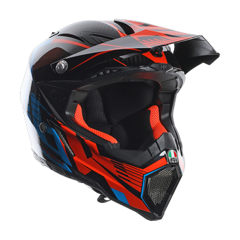 AGV AX-8 Carbon Carbotech cross helmet Orange Blue