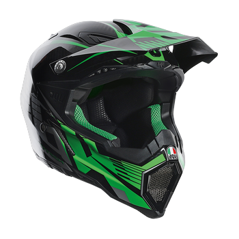 AGV AX-8 Carbon Carbotech cross helmet Green Grey