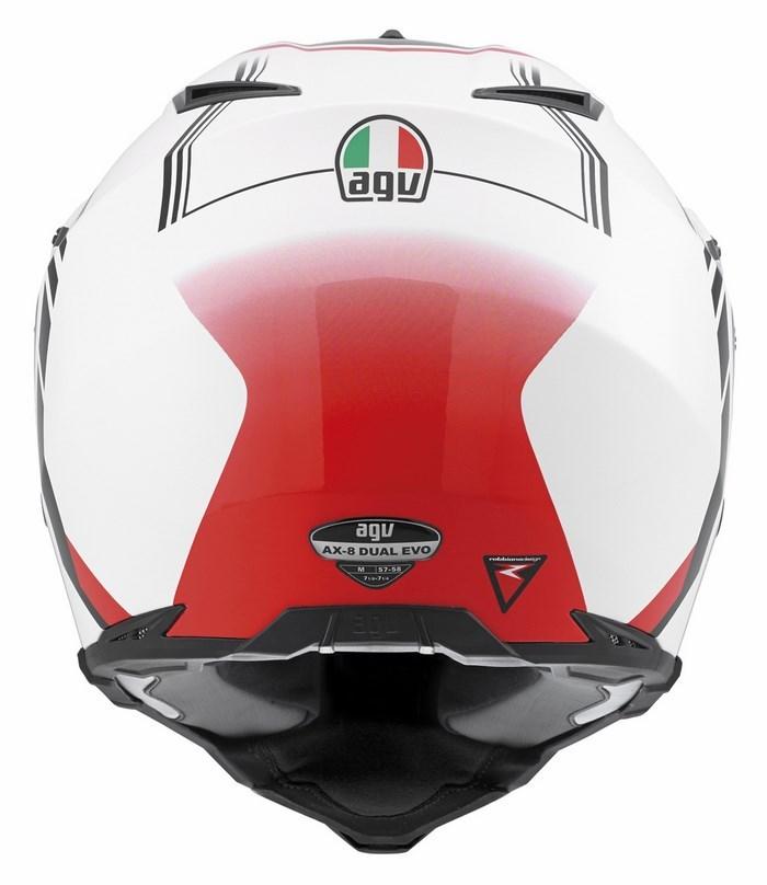 Casco moto off-road Agv AX-8 Dual Evo Multi GT bianco gunmetal r