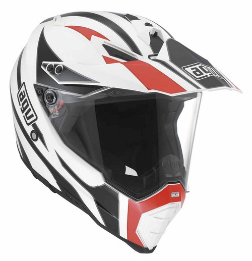Agv AX-8 Dual Evo Multi Tour off-road helmet white-black-red