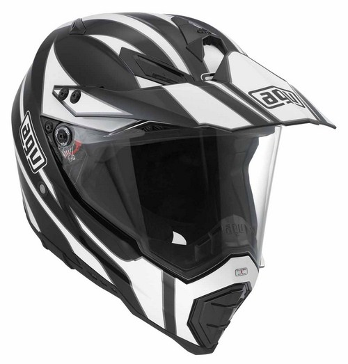 Agv AX-8 Dual Evo Multi Tour off-road helmet black-white