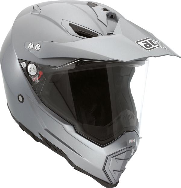 Agv AX-8 Dual Evo Mono off-road helmet titan grey