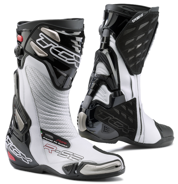 Motorcycle Boots TCX R-S2 Ages White Black