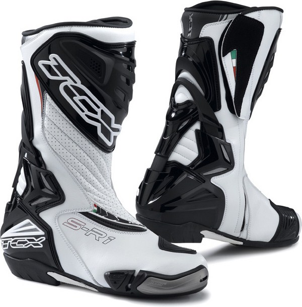 Tcx Boots motorcycle racing S-R1 white