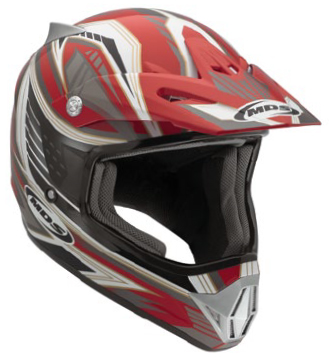 Casco moto cross Mds by Agv CMX Multi Rush rosso-nero-gunmetal