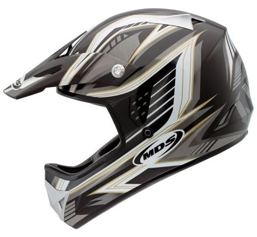 Mds by Agv CMX Multi Rush off-road helmet black-white-gunmetal