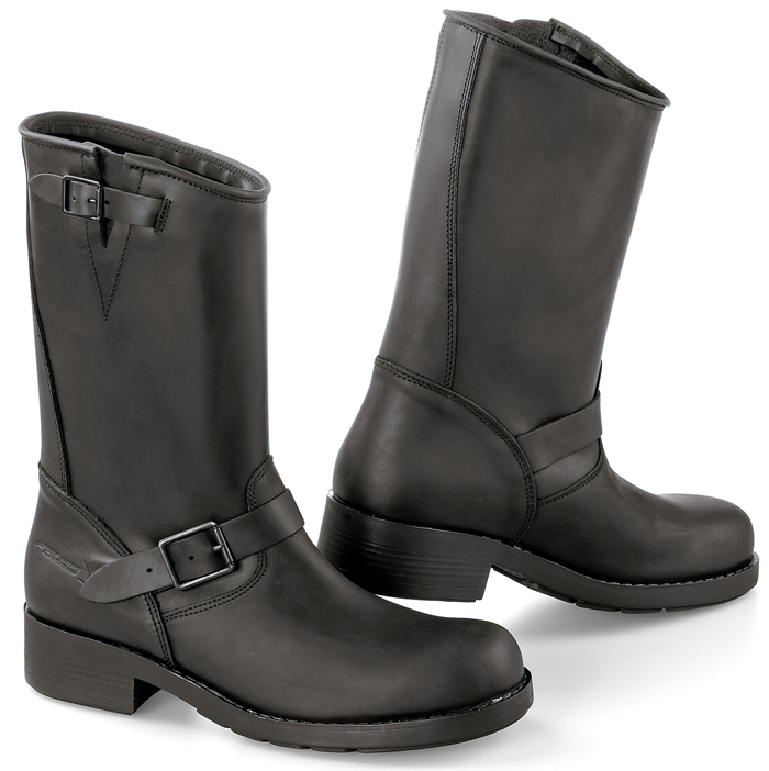Motorcycle boots leather Black Falco Brave