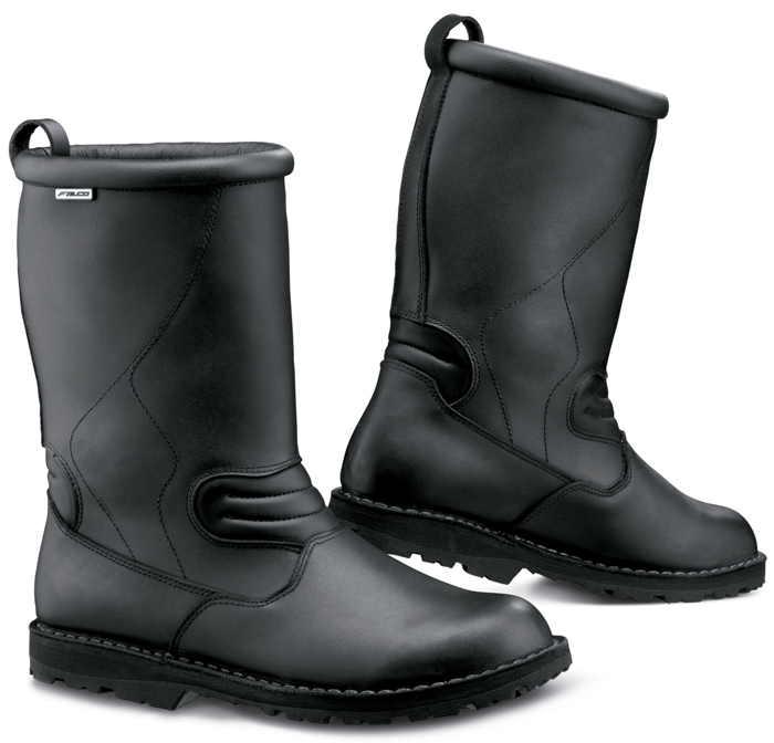 Frontier Black Leather Motorcycle Boots Falco