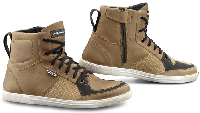 Brown Leather Motorcycle Boots Falco Shiro