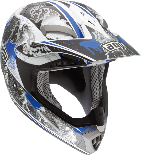 Agv MT-X Multi Evolution off-road helmet white-blue