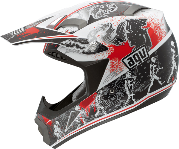Agv MT-X Multi Evolution off-road helmet white-red
