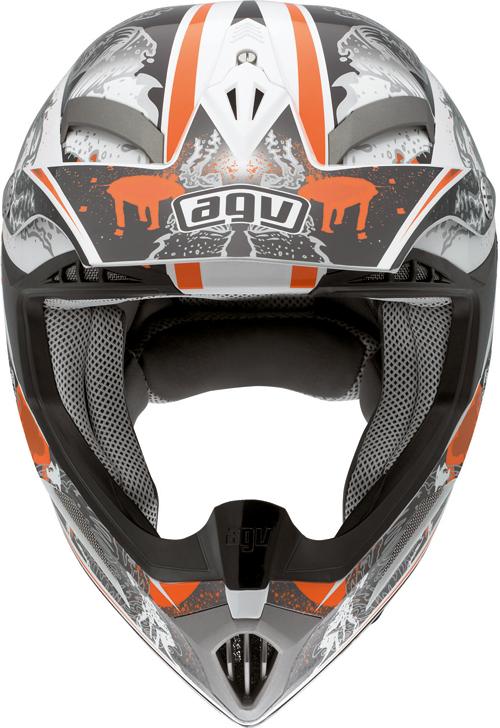 Agv MT-X Multi Evolution off-road helmet white-orange