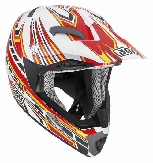 Agv MT-X Multi Point enduro helmet white-red-yellow