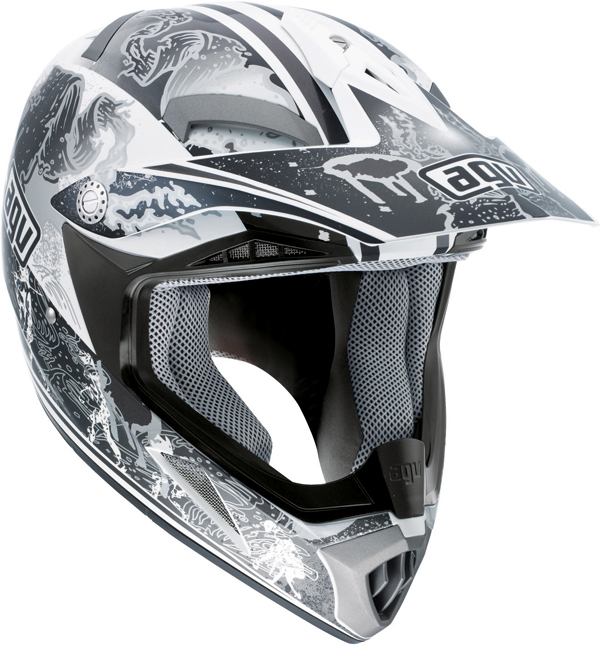Agv MT-X Junior Multi Evolution off-road helmet white-silver