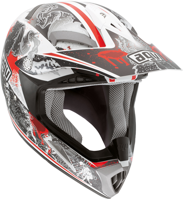 Agv MT-X Junior Multi Evolution off-road helmet white-red