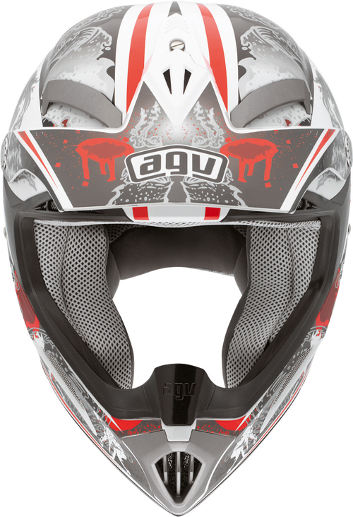 Casco moto cross Agv  MT-X Junior Multi Evolution bianco-rosso