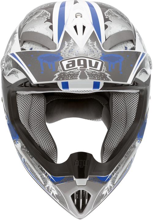 Agv MT-X Junior Multi Evolution off-road helmet white-blue