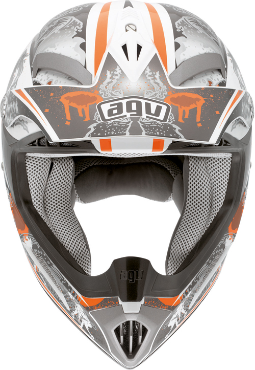 Casco moto cross Agv  MT-X Junior Multi Evolution bianco-arancio