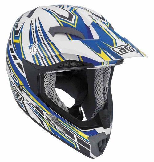Agv MT-X Junior Multi Point enduro helmet white-blue
