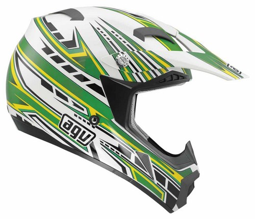 Agv MT-X Junior Multi Point enduro helmet white-green