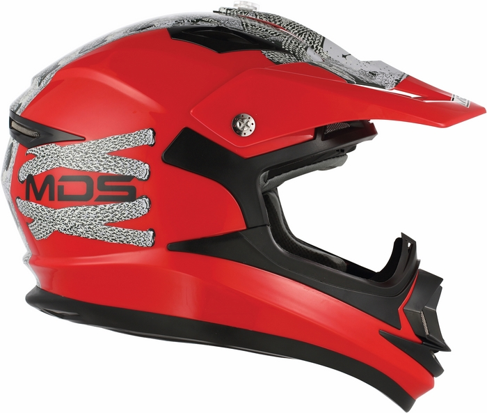 Casco moto cross Mds by Agv ONOFF Multi Lace Up rosso