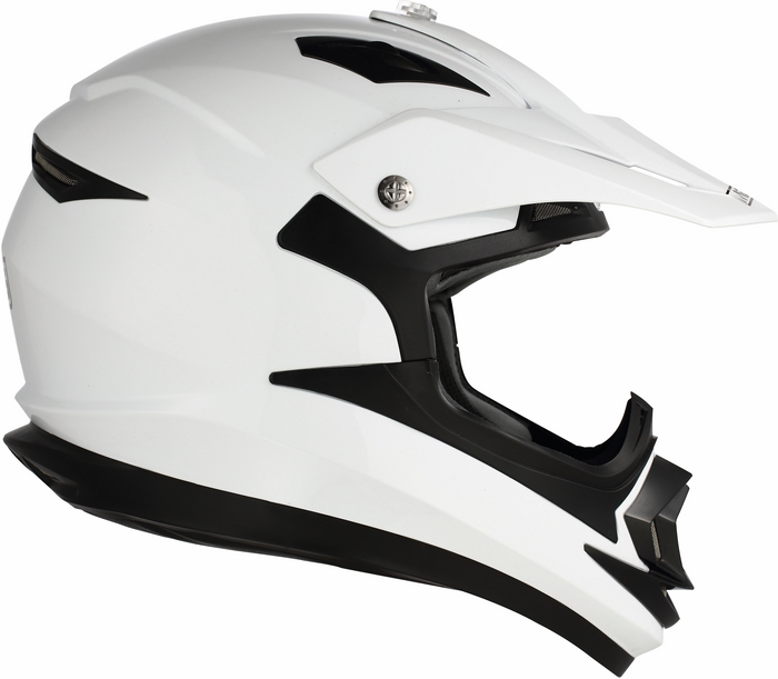 Casco moto cross Mds by Agv ONOFF Mono bianco