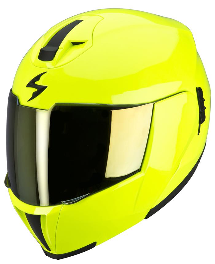 Scorpion EXO 910 Modular Helmet Neon Yellow