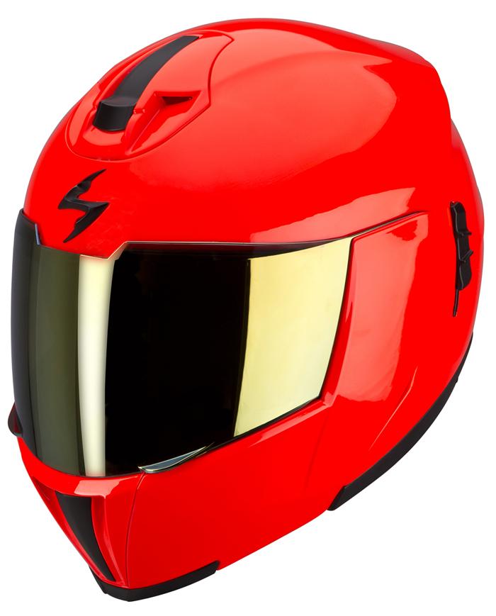 Scorpion EXO 910 Modular Helmet Red neon