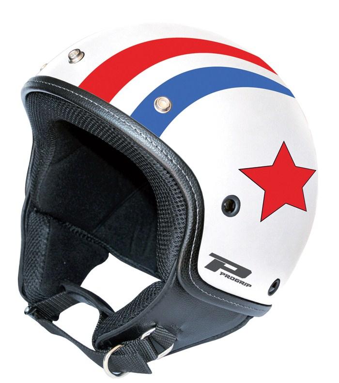 Vintage White Jet Helmet Scooter Progrip