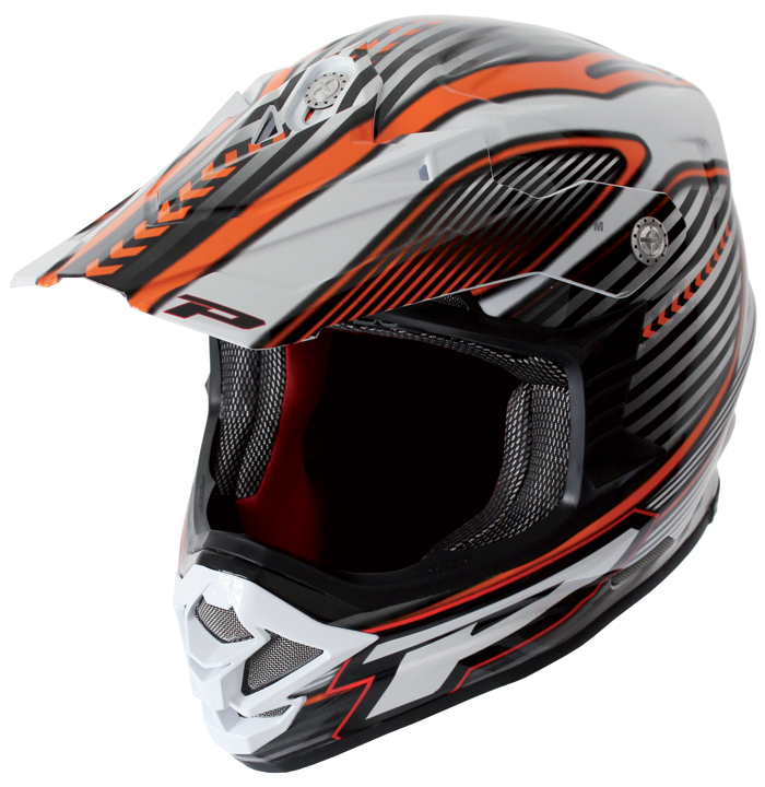 Casco cross Progrip Tricomposito Challenge Orange