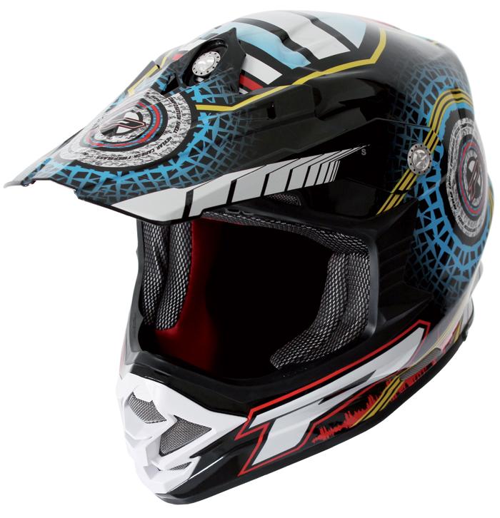 Cross helmet Progrip tri compound Holeshot Cyan