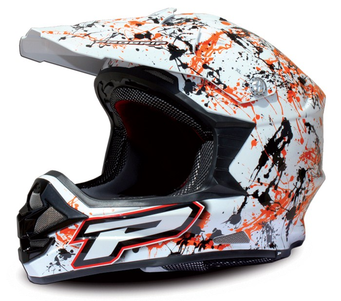 Cross helmet Progrip tri compound Orange Paint