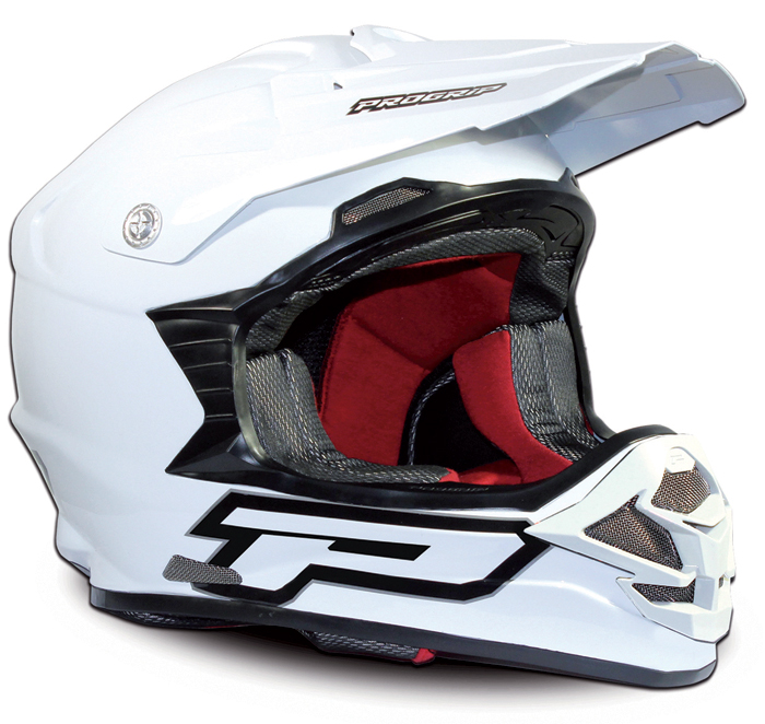 Cross helmet Progrip Total White