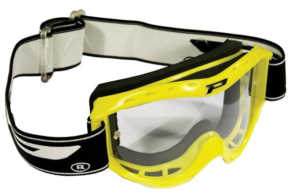 Goggles Progrip child cross Yellow