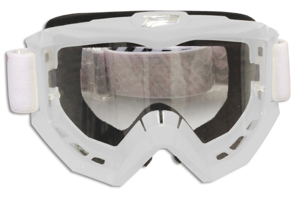 Goggles Progrip cross line White Race