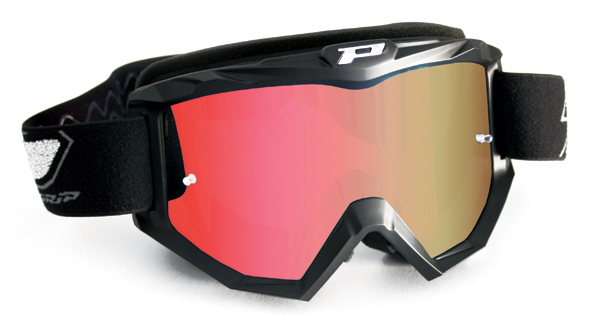 Cross Progrip goggles with mirror lens Red