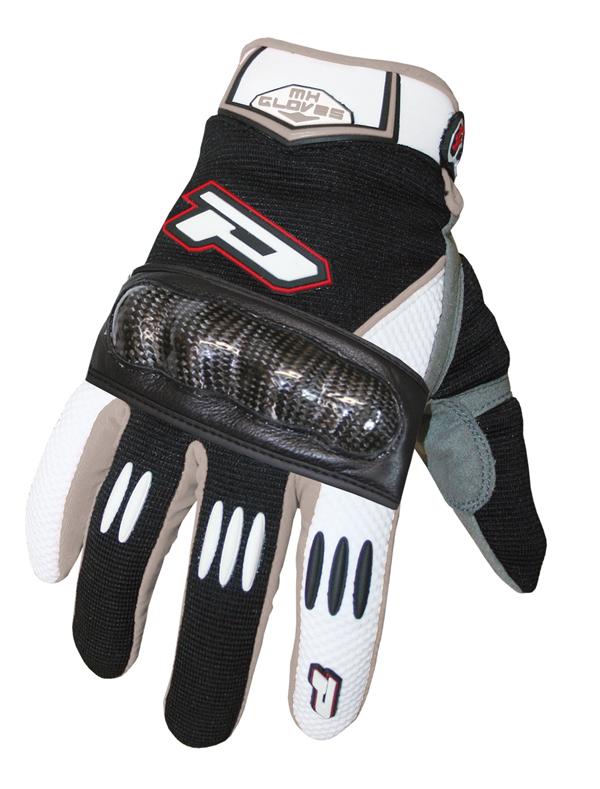 Gloves cross Progrip reinforced with carbon fiber Black Bian