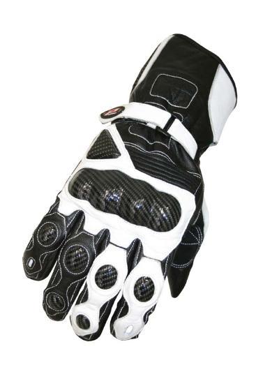 Guanti moto Progrip Racing con Kevlar Nero Bianco