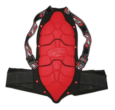 Back protector Progrip Black Red