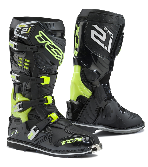 TCX off road boots Pro 2.1 Black Fluo Yellow
