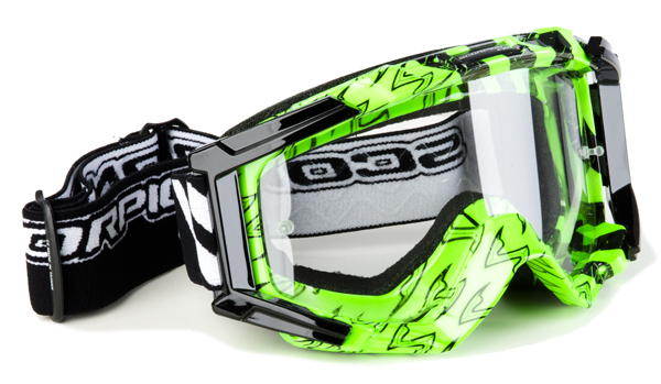 Sunglasses Black neon cross Scorpion Verde