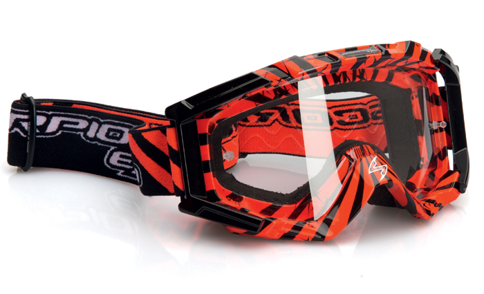 Glasses cross Scorpion Red neon Black